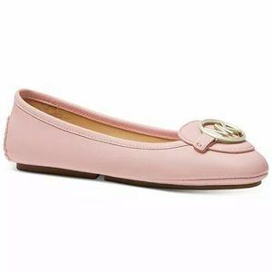 Michael Kors Lillie Ballet Flat Rose Pink NEW